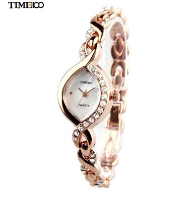 женские кварцевые часы  со стрелочным циферблатом TIME100