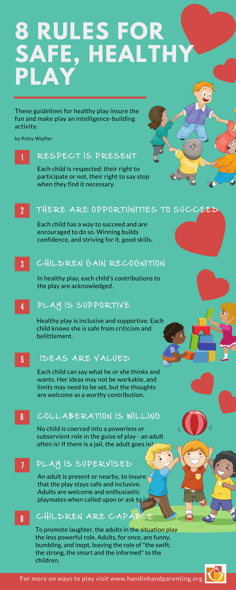 8 Rules For Safe And Healthy Play #infographic