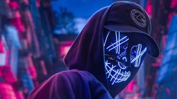 Papel de Parede Máscara de Neon Tumblr