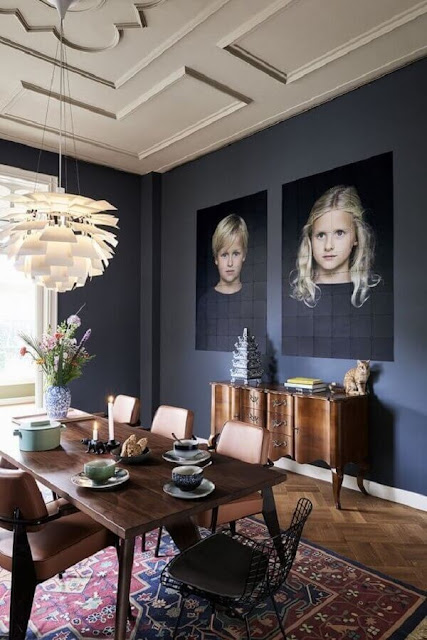 Large photo frame for decorating the dining room