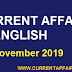 Today Important Current Affairs in English [ 05 November 2019 ] | Today's News Headlines