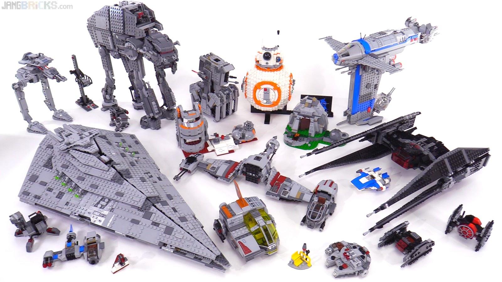 Star Wars The Last Jedi set collection summaries