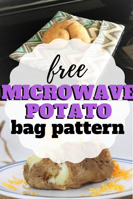 Need to bake a potato super fast?  You'll learn how to make a microwave potato bag with this step by step tutorial and free downloadable pattern.