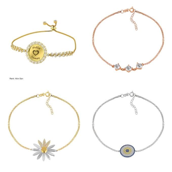 Yeni Sezon Gümüş İsimli Bileklik Modelleri ve Fiyatları