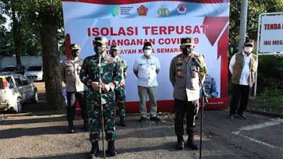 Panglima TNI, Kabaharkam Polri dan Kepala BNPB Tinjau Isolasi Rumdin Wako Semarang
