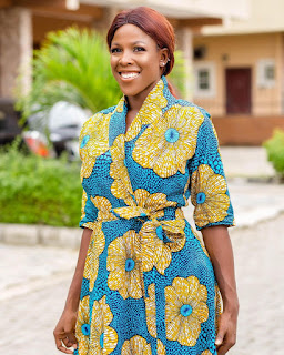 ankara wrap dress