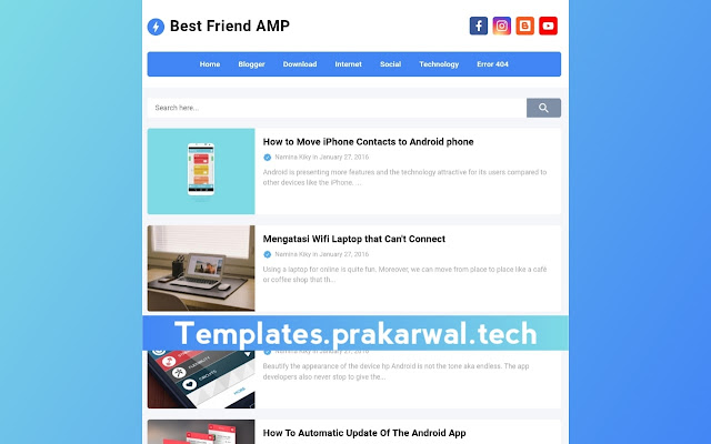 Sahabat AMP Free Blogger Template