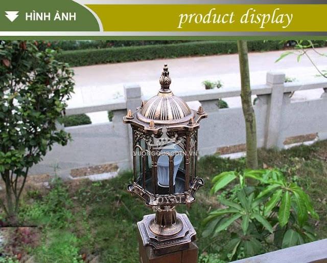 Thông tin chi tiết 2 mẫu đèn trụ cổng bằng đồng sang trọng
