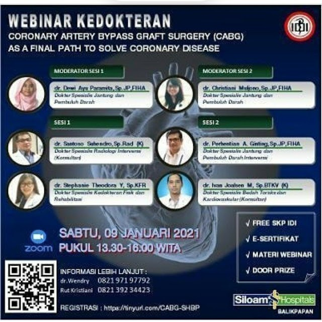 "FREE SKP IDI Webinar Kedokteran ""Coronary Artery Bypass Graft Surgery (CABG) As a Final Path to Solve Coronary Disease"