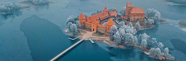 The island castle of Trakai
