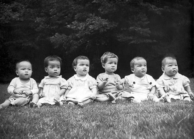 Infants and toddlers in an orphanage in post-war Japan, 1948.