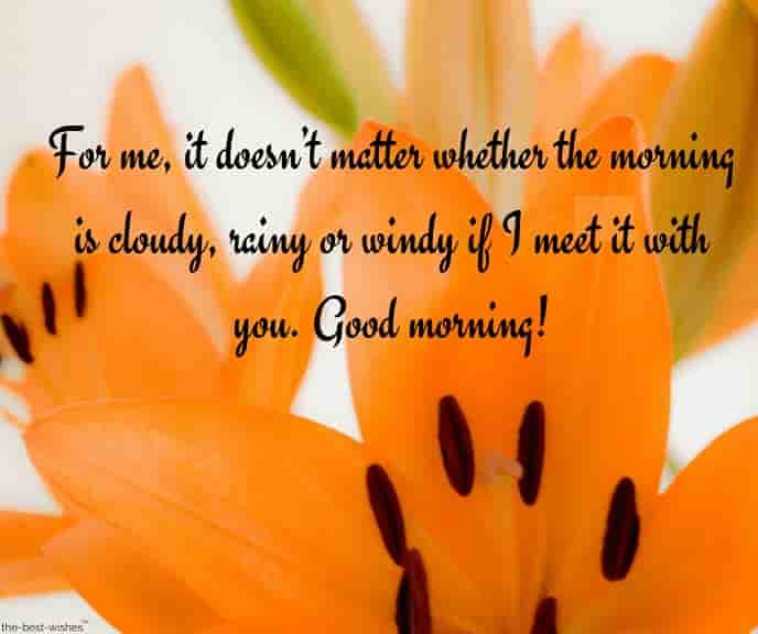 good morning text messages to loved ones with orange flower