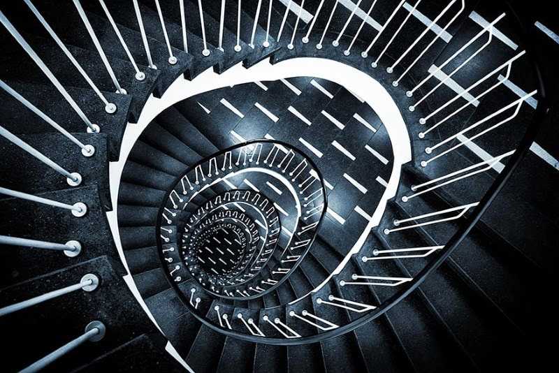 "7. ""Gotham Spiral"" – Matthias Haker - 15 Mesmerizing Examples of Spiral Staircase Photography"