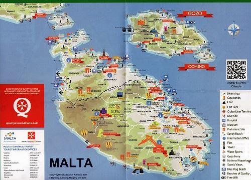 mapa turistico malta Viajando con Mirko: Cómo moverse por Malta mapa turistico malta