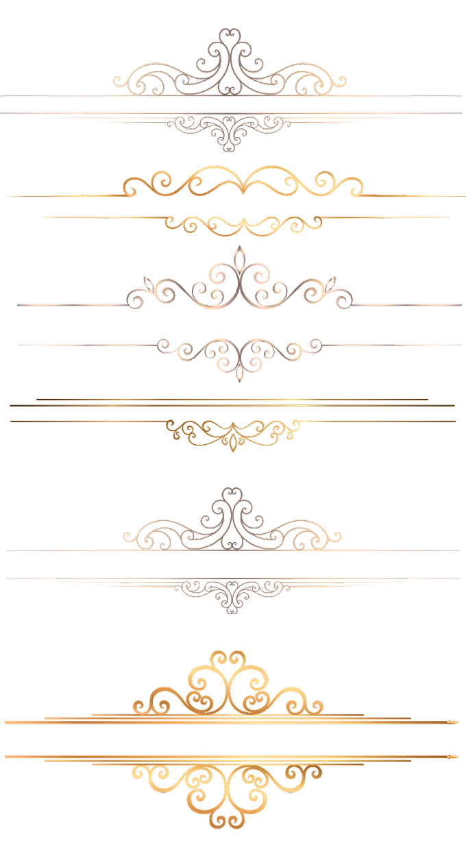 Gold Border - Gold Pattern Background free png by pngkh.com
