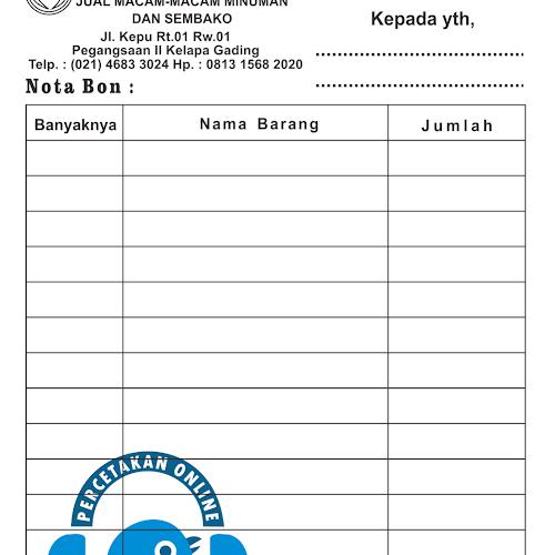 Cetak Nota Jakarta Cetak Murah Cepat Berkualitas