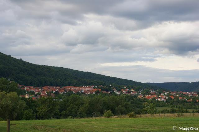 Vista sul Panorama di Oberbronn ed i Vosgi