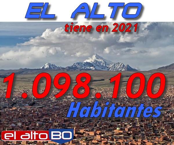 Estadísticas de El Alto, Bolivia