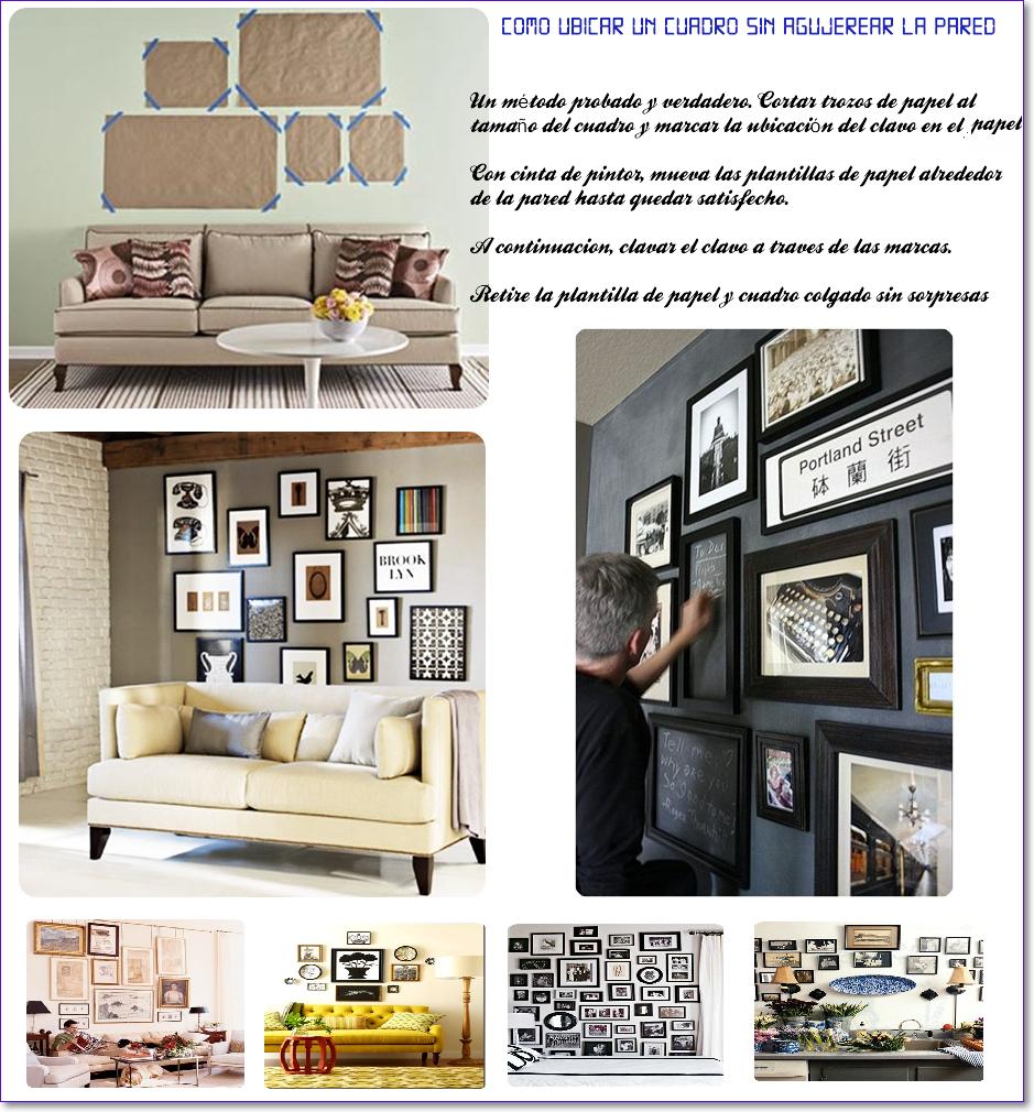 cuadros, disposición, decoración, bricolaje