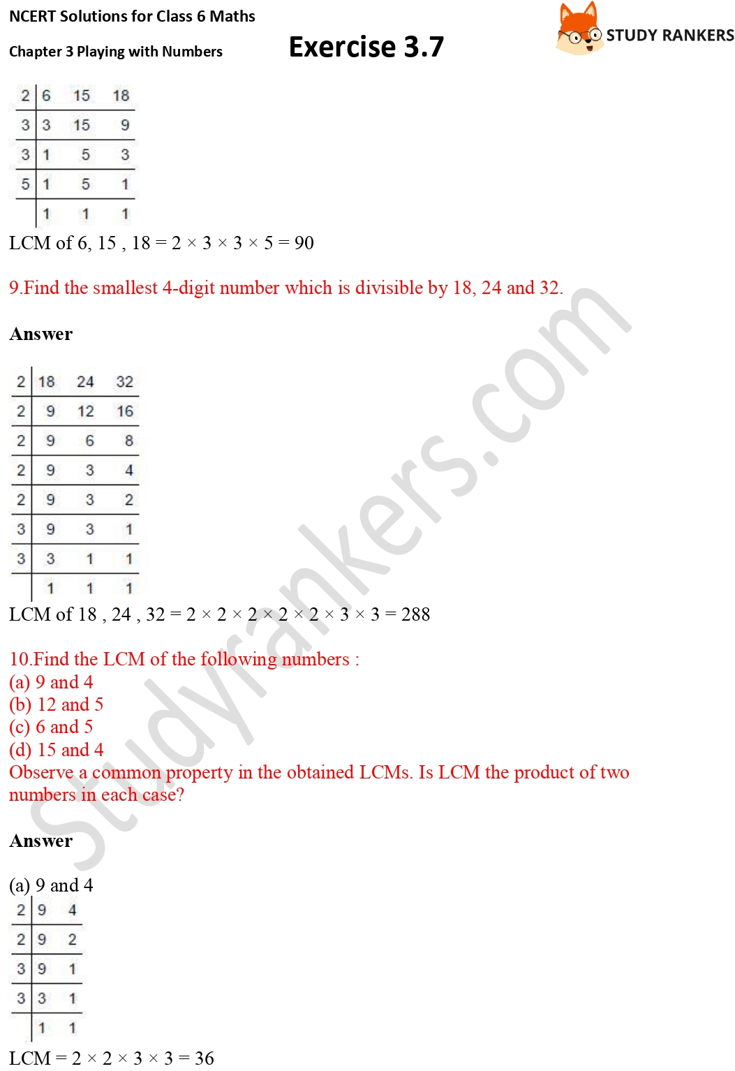 NCERT Solutions for Class 6 Maths Chapter 3 Playing with Numbers Exercise 3.7 Part 4