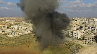 منتهكا وقف إطلاق النار.. نظام الأسد يقصف مناطق سكنية بإدلب