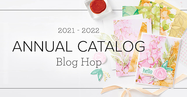 Crafty Collaborations 2021-2022 Annual Catalog Blog Hop Banner | Nature's INKspirations by Angie McKenzie