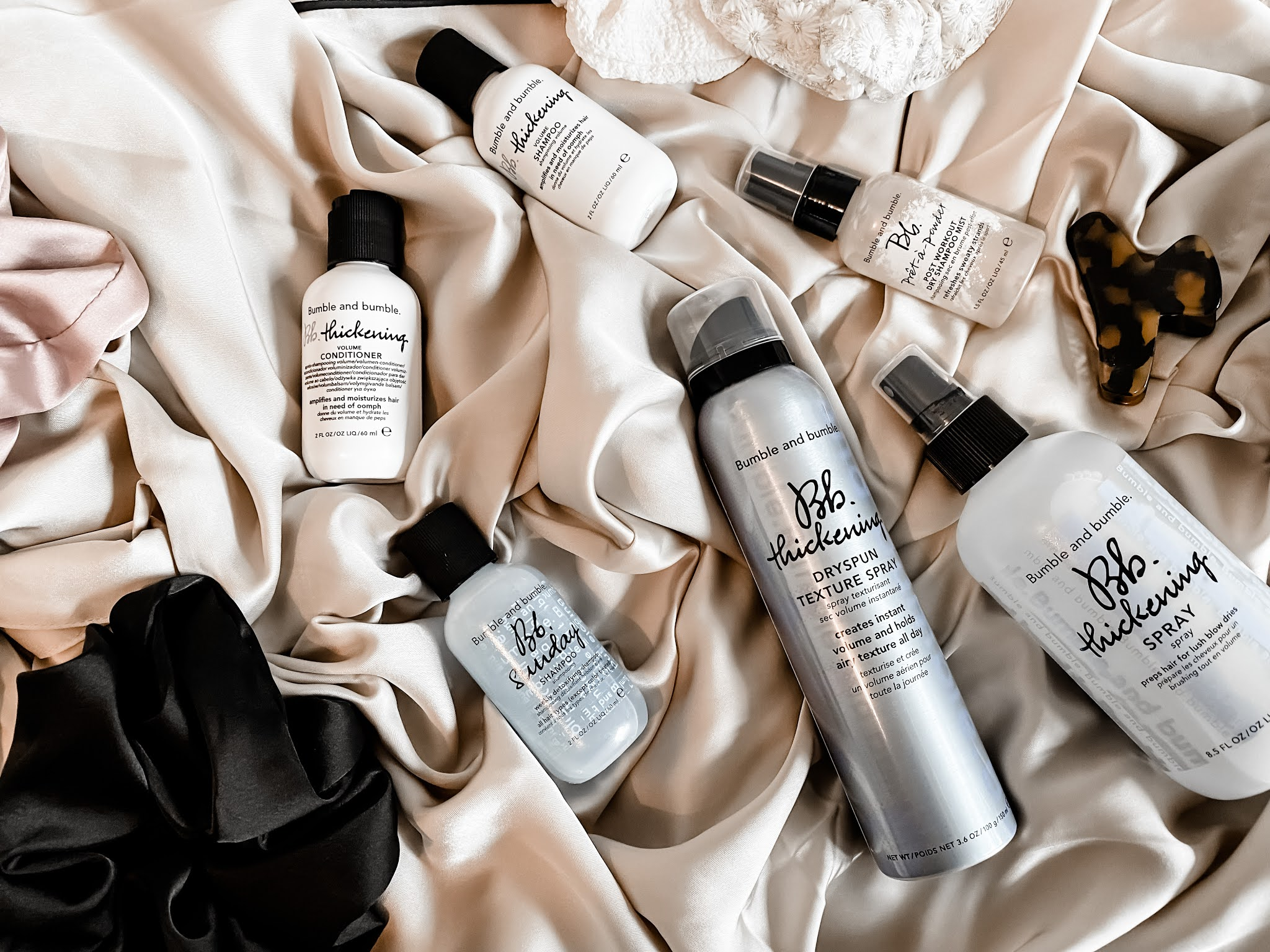 Bumble & Bumble Haircare Products Routine - Product Flatlay