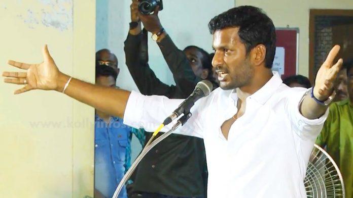 actor vishal arrested