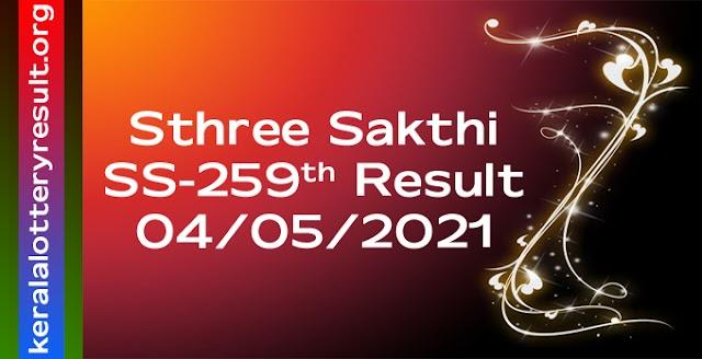 Sthree Sakthi SS 259 Lottery Result 4.5.2021