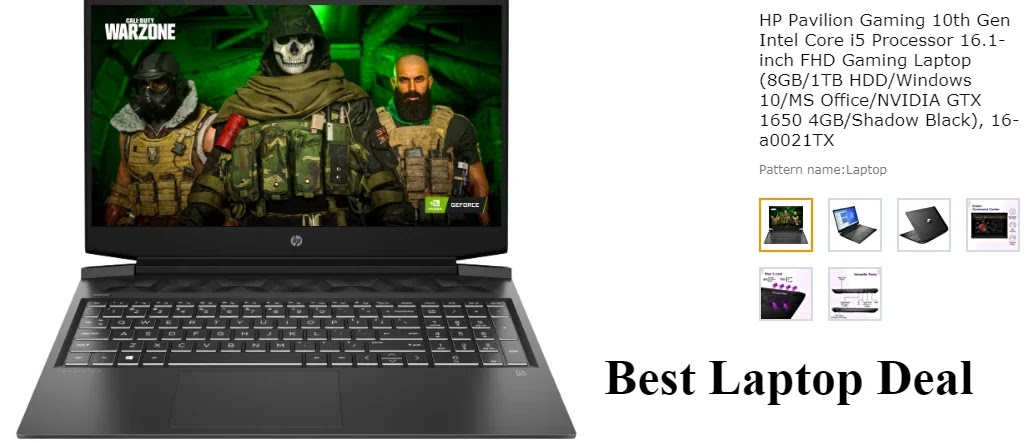 HP Pavilion Gaming 10th Gen Intel Core i5 Processor 16.1-inch FHD Gaming Laptop