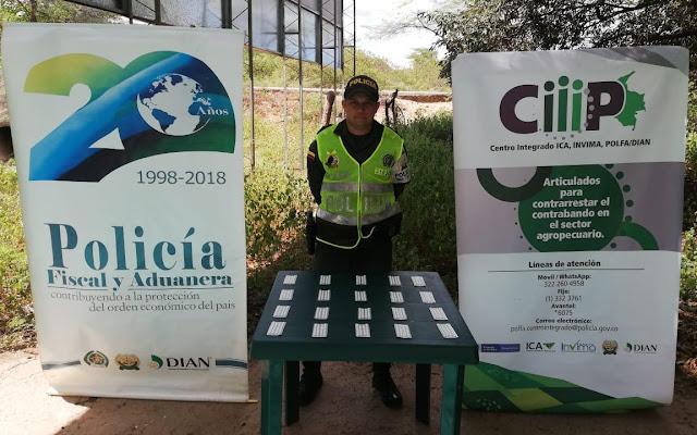 Licor y medicamentos de contrabando se incautó la Policía en La Guajira