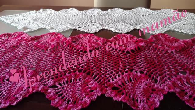 trilho de mesa Círculo, crochê, toalha para sala