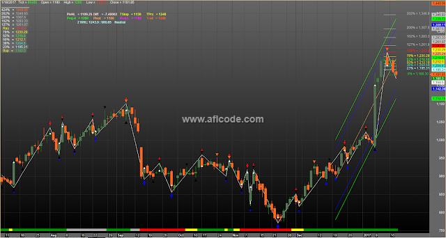 Fibonacci Support Resistance Trend Line