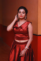 Tamil Actress Anisha Xavier Pos in Red Dress at Pichuva Kaththi Tamil Movie Audio Launch  0017.JPG