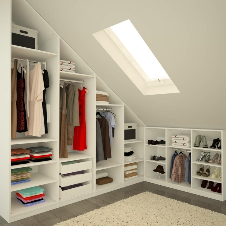 Recessed Cupboard Under Slope - 30 Clever Storage Ideas