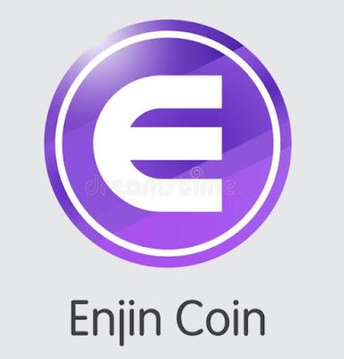 Ilustrasi Gambar Enjin Coin (ENJ) Token