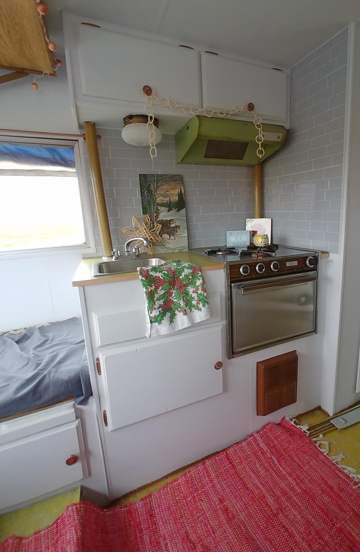 RV Christmas kitchen