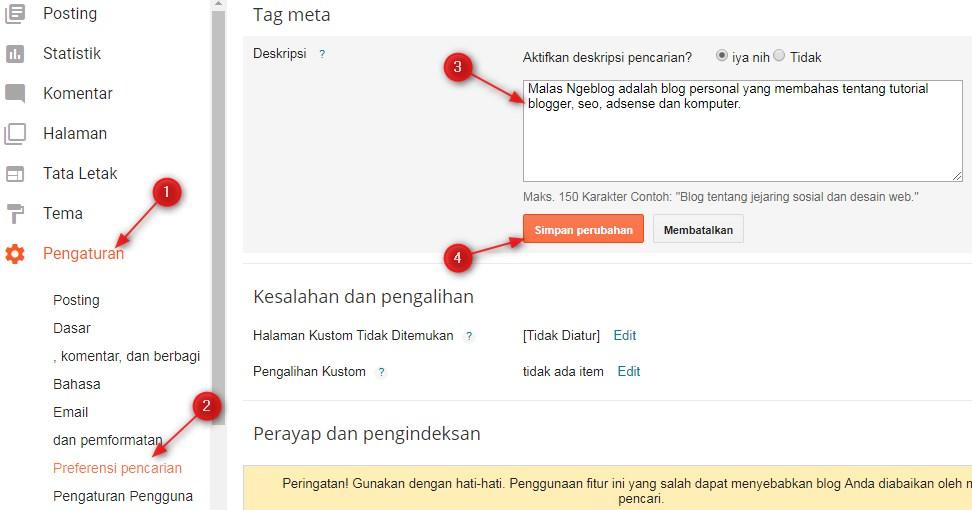 meta,tag,deskripsi,halaman,depan,blog