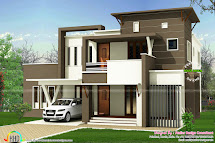 Square Houses Flat Roof Design