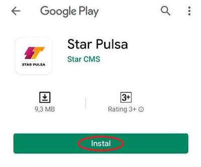 Instal Aplikasi Android Star Pulsa