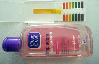 pH de Clean & Clear Limpiadora Espumosa Facial