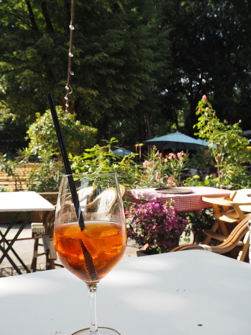 Aperol Spritz at Cafe am neuen see