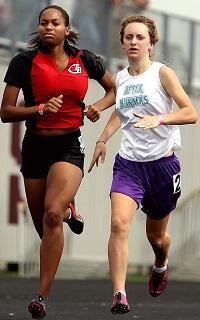 Women Athletes Running