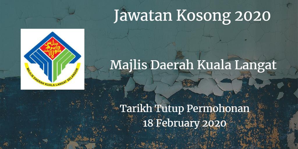 Jawatan Kosong MDKL 18 February 2020