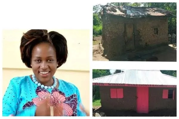 Kenyan lawmaker brands her name on house she built for a needy person