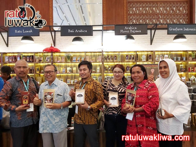 Ratu Luwak Liwa di Indonesia Sharia Economic Festival (ISEF) 2019