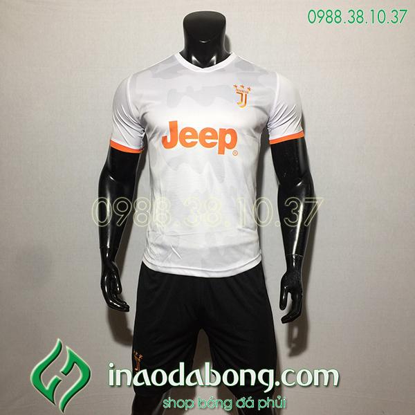 Áo bóng đá câu lạc bộ Juventus màu trắng 2020