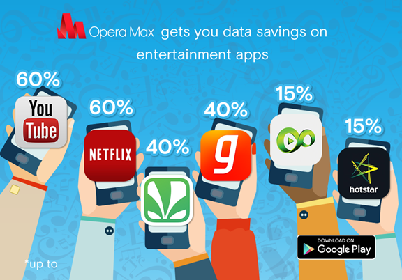 Opera Max gives 60% data savings across entertainment apps
