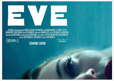 "Fablemaze and San Diego International Film Festival present ""Eve"" (2019) movie poster, starring Rachel Warren, Andrew Lee Potts, Jonathan Forbes, Christine Marzano, Ali Bastian, and Lex Shrapnel"