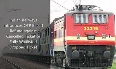 Indian Railways introduces OTP Based Refund against Cancelled Ticket or Fully Waitlisted Dropped Ticket